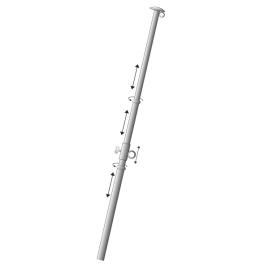 Teleskopfahnenstange, ausziehbar 3-teilig bis 300 cm lang, aus Aluminium