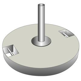 Betonsockel für Fahnenstangen grau 40 kg für 1 Stange Ø 50 mm