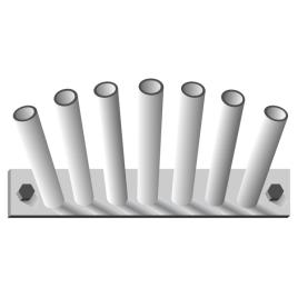 Fahnenstangenhalter, 7-fach, für 7 Stangen Ø 15 mm