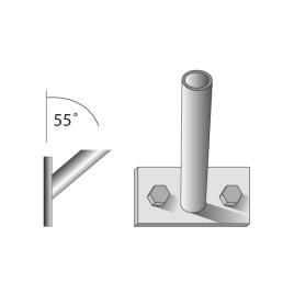 Fahnenstangenhalter, 1-fach, für 1 Stange Ø 28/30 mm
