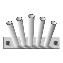 Fahnenstangenhalter, 5-fach, für 5 Stangen Ø 28/30 mm