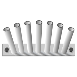 Fahnenstangenhalter, 7-fach, für 7 Stangen Ø 28/30 mm