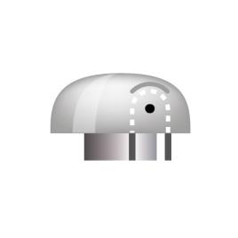 Abschlusskappe aus Kunststoff mit Seilumlenkung, Ø 110/50 mm