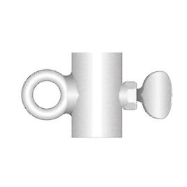 Schiebering Ø 28 mm, feuerverzinkt für Fahnenstangen-Ø 28 mm