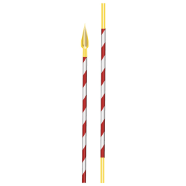Tragstange für Militärstandarte KOPIE Totallänge: 215 cm, Ø 30 mm
