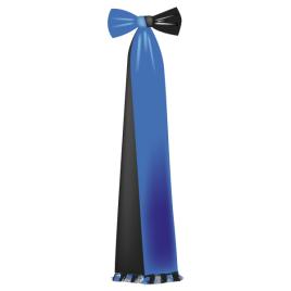 Spitzenschleife mit Masche reine Seide, Uni Taffet, zweifarbig, Länge und Farben zu bestimmen