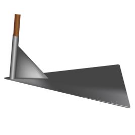 ENDI-Bodenhalter zum Aufstellen der Vereinsfahne Stahlblech anthrazit, Dimensionen 80 x 58 cm