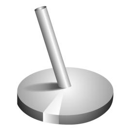 Chromstahlständer, Neigung 82.5° für Stange Ø 28/30 mm, Ständer Ø 30 cm