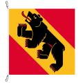 Fahne, Kanton eingesetzt Bern, 100 x 100 cm