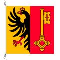 Fahne, Kanton eingesetzt Genf, 78 x 78 cm
