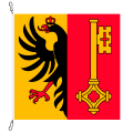 Fahne, Kanton eingesetzt Genf, 250 x 250 cm