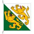 Fahne, Kanton eingesetzt Thurgau, 400 x 400 cm