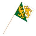 Fahne, an Holzstab 90 cm lang Thurgau, 30 x 30 cm