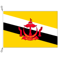 Fahne, Nation bedruckt, Brunei, 70 x 100 cm