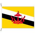 Fahne, Nation bedruckt, Brunei, 100 x 150 cm