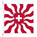 Fahne, geflammt, bedruckt Schweiz, 78 x 78 cm