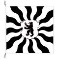 Fahne, geflammt, bedruckt Appenzell AI, 120 x 120 cm