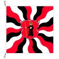 Fahne, geflammt, bedruckt Glarus, 120 x 120 cm