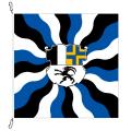 Fahne, geflammt, bedruckt Graubünden, 120 x 120 cm