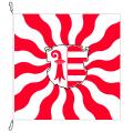 Fahne, geflammt, bedruckt Jura, 120 x 120 cm