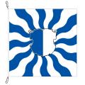 Fahne, geflammt, bedruckt Luzern, 120 x 120 cm