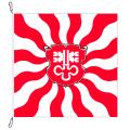 Fahne, geflammt, bedruckt Nidwalden, 120 x 120 cm