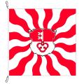 Fahne, geflammt, bedruckt Obwalden, 78 x 78 cm