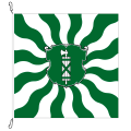 Fahne, geflammt, bedruckt St. Gallen, 150 x 150 cm