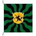 Fahne, geflammt, bedruckt Schaffhausen, 78 x 78 cm
