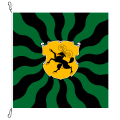 Fahne, geflammt, bedruckt Schaffhausen, 150 x 150 cm