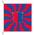 Fahne, geflammt, bedruckt Tessin, 150 x 150 cm