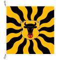 Fahne, geflammt, bedruckt Uri, 200 x 200 cm