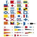 Flaggensatz, Signal bedruckt komplett, 20 x 24 cm