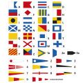 Flaggensatz, Signal bedruckt komplett, 30 x 36 cm