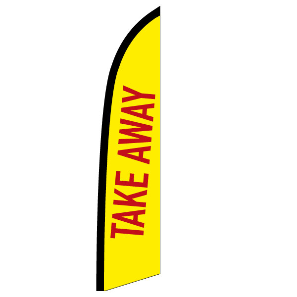 "Beachflag ""Take-away"" (1), bedruckt, 573 x 2547 mm"