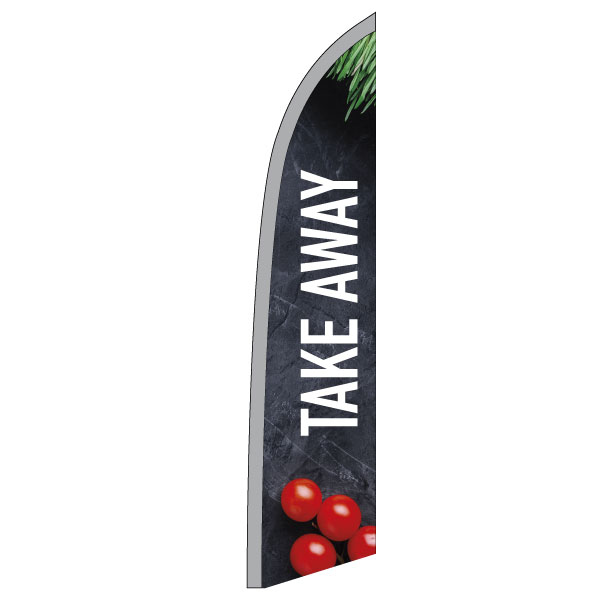 "Beachflag ""Take-away"" (3), imprimé, 573 x 2547 mm"