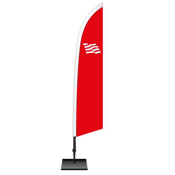 Beachflag, forma WING
